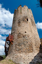 La tour regine tower close up at lastours in france Stock Photos