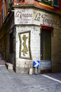 La trappa bar in nice france may at the junction of narrow streets the old town shows the architecture detail of historic part of Stock Photos