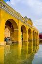 La union water tank in antigua guatemala touristic spot Stock Photography