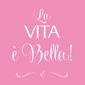 La vita e bella quote typographic background vector format Royalty Free Stock Photography