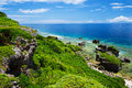 La vue de HIGASHI HENNA Cape, Okinawa Prefecture /Japan Photographie stock libre de droits