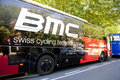 La vuelta 2012 - BUS of BMC TEAM Stock Photography