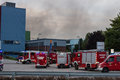 LAAKIRCHEN, AUSTRIA SEPTEMBER 24, 2015: Firefighters and fire tr