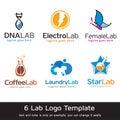 Lab Logo Template Design Vector
