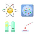 Lab symbols test medical laboratory scientific biology design molecule concept vector