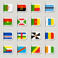 Label - African Flags Royalty Free Stock Photos