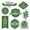 Label back to school vintage welcome Royalty Free Stock Photography