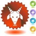 Label - Capricorn Royalty Free Stock Photo