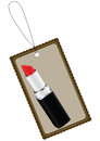 Label with cosmetic lipstick Stock Images