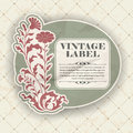 Label de vintage Photo stock