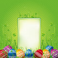 Label with easter eggs, vector Royalty Free Stock Photo