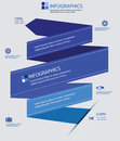 Label elements infographics blue version concept Stock Photos
