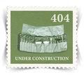 Label for error web page stylized as post stamp vintage landscape view Stock Images