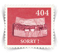 Label for error web page stylized as post stamp vintage landscape view Royalty Free Stock Image