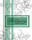 Label for essential oil of rosemary