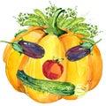 Label Funny Face Vegetables. A...