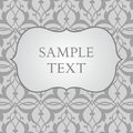 Label on gray damask background vintage Stock Photos