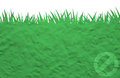 Label icon on plasticine grass Stock Photo