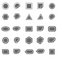Label icons on white background stock vector Royalty Free Stock Photo