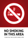 Label No smoking sticker Royalty Free Stock Images