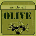 Label olive 3 Stock Image