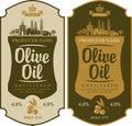 Label for olive oil