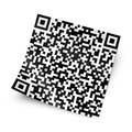 Label with QR code Royalty Free Stock Photography