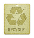 Label with recycle symbol. Royalty Free Stock Photo