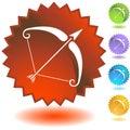 Label - Sagittarius Royalty Free Stock Photo