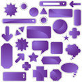 Label Set - Purple Royalty Free Stock Photo
