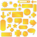 Label Set - Yellow Royalty Free Stock Photo