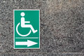 Label sign of cripple on marble wall Stock Photo