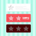 Label with star minimalism design Royalty Free Stock Images