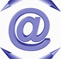 Label symbol e-mail Royalty Free Stock Photos