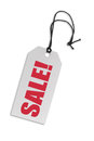 Label tag made of carboard isolated on white Royalty Free Stock Photography