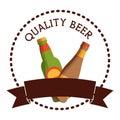 label two bottles beer quality banner
