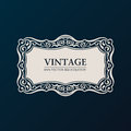 Label vector framework vintage banner decor ornament Royalty Free Stock Photos