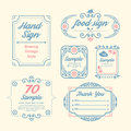 Label vintage design labels infographic template can be used for infographics numbered banners graphic or website layout vector Royalty Free Stock Photos