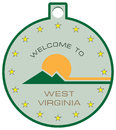 Label welcome to West Virginia
