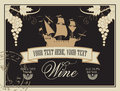 Label for wine Royalty Free Stock Photo