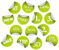 Labels badges and stickers Stock Photography