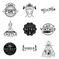 Labels de vecteur de vintage Images stock