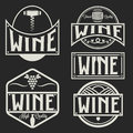 labels and design elements of wine
