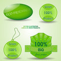 Labels of green products Stock Images
