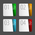 Labels with number of option can be used for workflow layout application icon diagram options step up options web design Royalty Free Stock Photo
