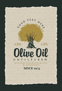 Labels for olive oils Royalty Free Stock Photo