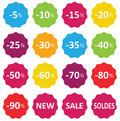 Labels price sale of clothing Royalty Free Stock Photos