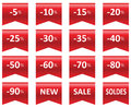 Labels price sale of clothing Stock Image