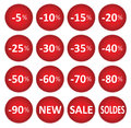 Labels price sale of clothing Royalty Free Stock Photo