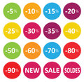 Labels price sale of clothing Stock Photos